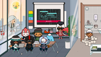 Toca Life: Office - Meeting with superheroes