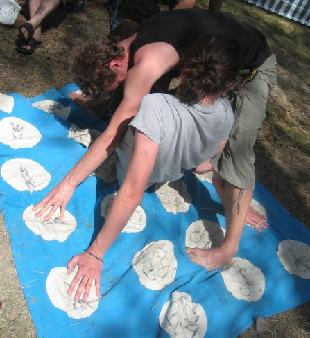 Spelet Miljötwister vid Caminos monter på Arvikafestivlen