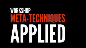 Workshop - Meta-techniques applied