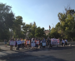Weekly friday demonstration against the illegal settlements in Sheikh Jarrah