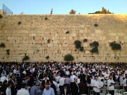 The Western Wall at Sabbath