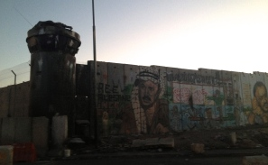 Close to the checkpoint at Qalandiyah to pass from Ramallah to Jerusalem