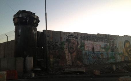Close to the checkpoint at Qalandiyah to pass from Ramallah to Jerusalem