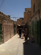 The old town of Hebron was packed with closed shops