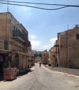 A streets that is where Palestinian movement is restricted