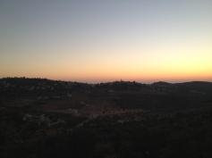 Sundown in the West bank