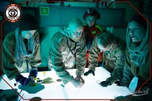 Celestra navigation crew at work. Photo: John-Paul Bichard (CC-NC-ND)