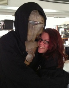 Cecilia with the Cylon Caliban.