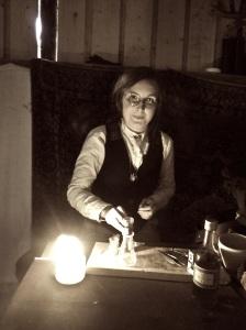 Dr Kästner doing preparations inside. Diegetic. Photo: Elin Gustafsson