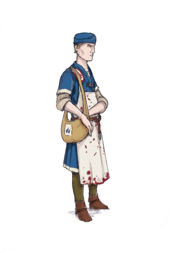 Medic from Cordovien. Illustration: Peter Edgar