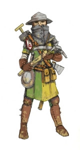 Falcon Sapper from Cordovien. Illustration: Peter Edgar