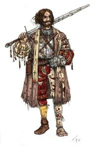 Priest of The Guild. Illustration: Peter Edgar