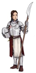 Lion knight from Cordovien. Illustration: Peter Edgar