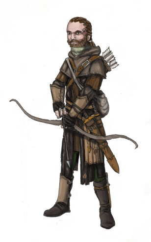 Wolf ranger from Cordovien. Illustration: Peter Edgar