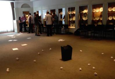 Papers played at Peabody Essex Museum in Salem, Massachusetts, USA, in June 2016. Photo by Lizzie Stark.